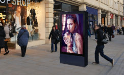 "Double Sided' 75"" Digital 6 Sheet Outdoor Display"